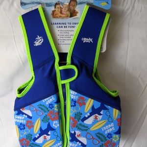 Child's blue swim trainer vest ages 3 to 4 years